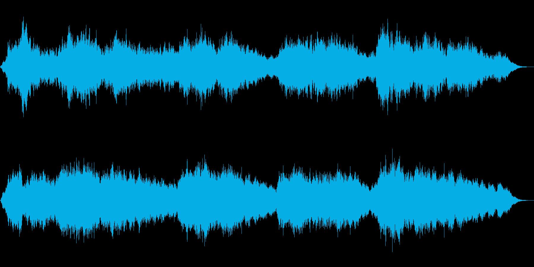 エスノムード満載アンビエントな笛の音楽の再生済みの波形