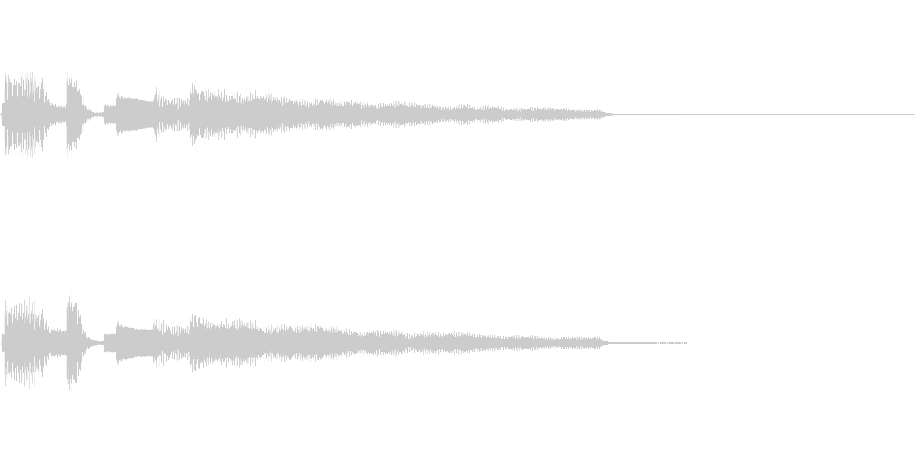 おしゃれなエレピのジングル1の未再生の波形