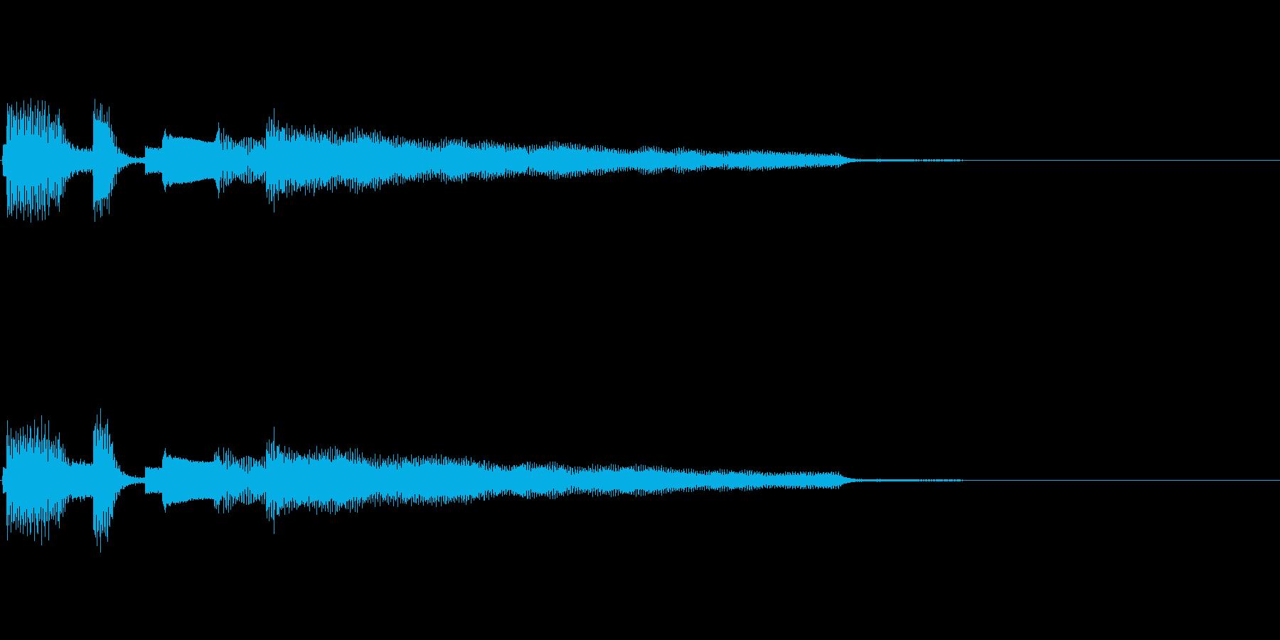 おしゃれなエレピのジングル1の再生済みの波形