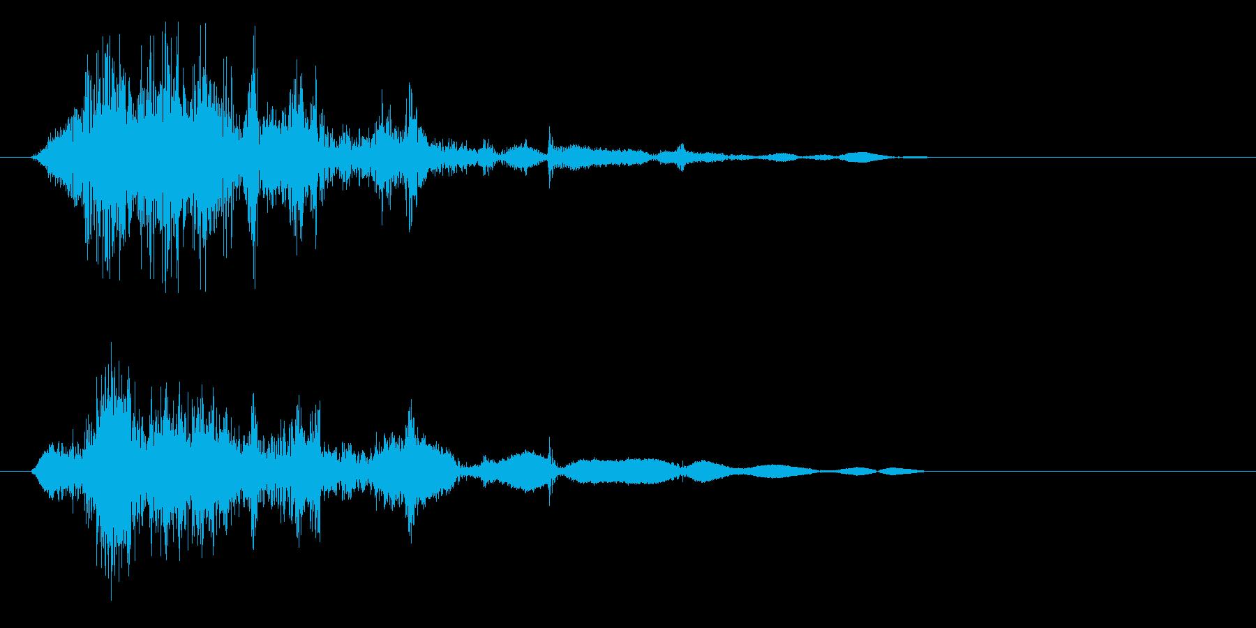 シャッ(摩擦音)短いの再生済みの波形