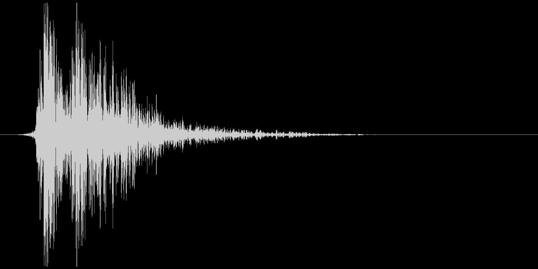 リアルな炎魔法の効果音_モノラル版の未再生の波形