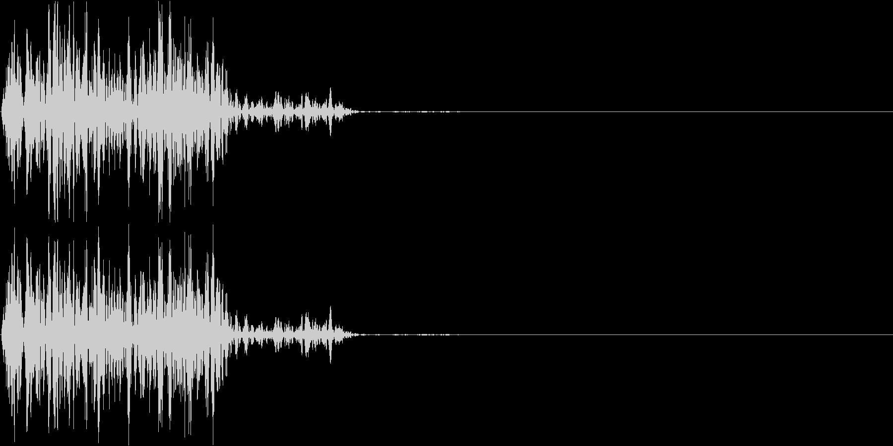 【ガスッ!】ファミコン系 破壊音_02の未再生の波形