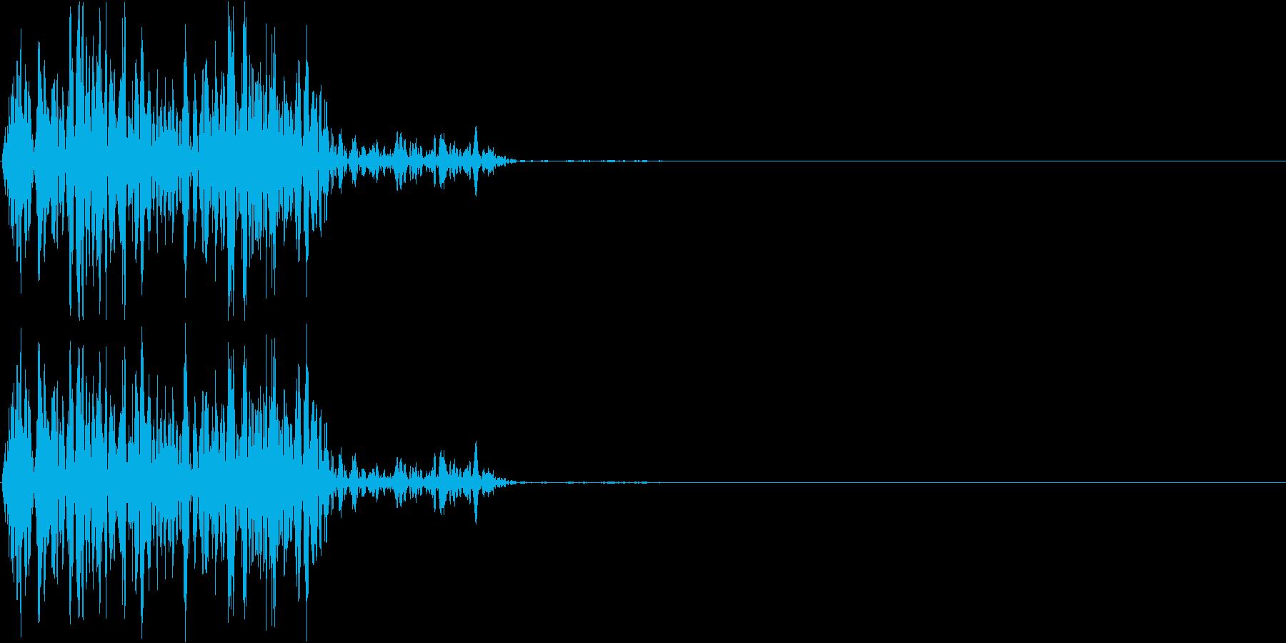 【ガスッ!】ファミコン系 破壊音_02の再生済みの波形