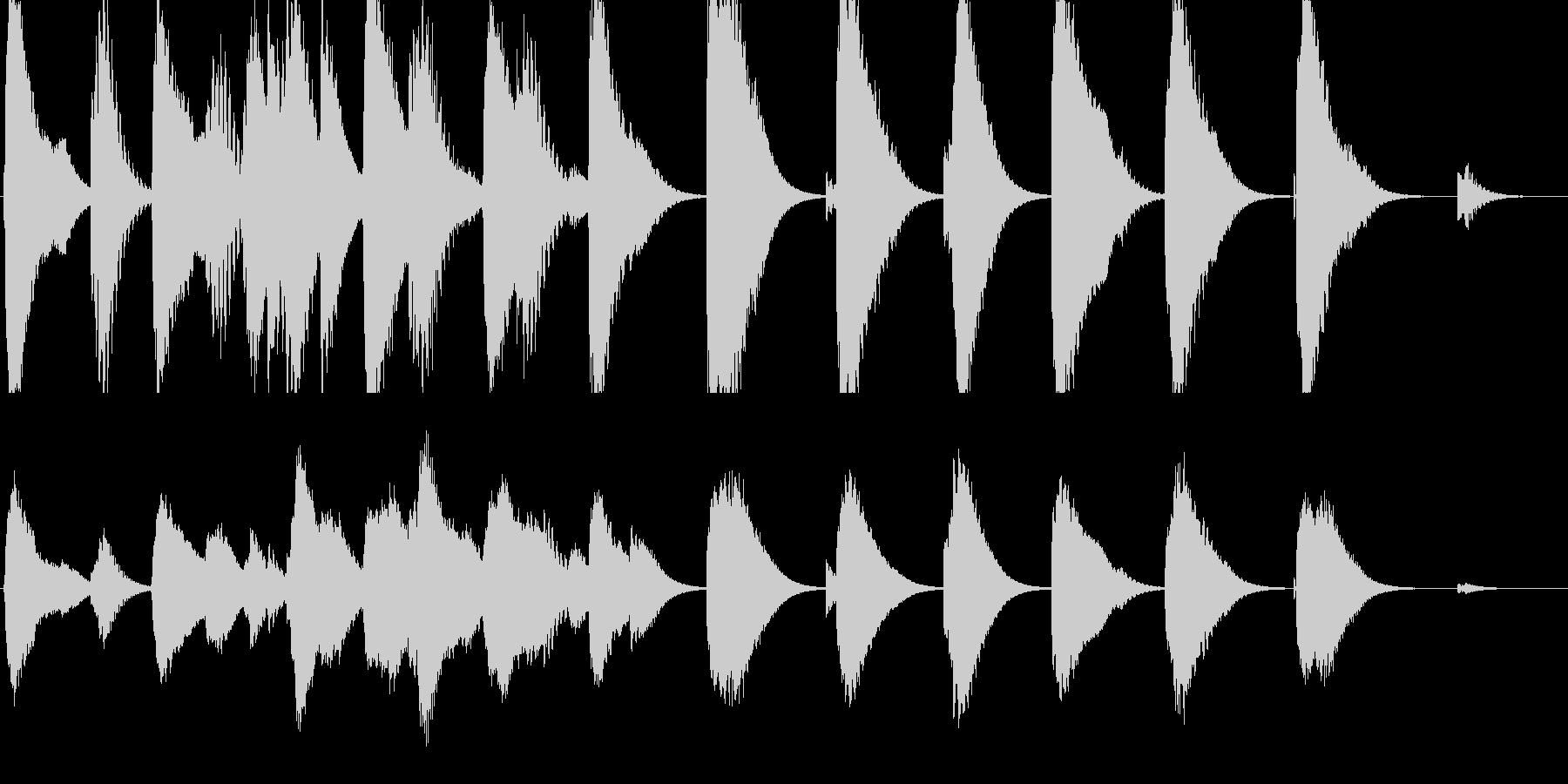 暗めの映画のシーン用に作りましたの未再生の波形