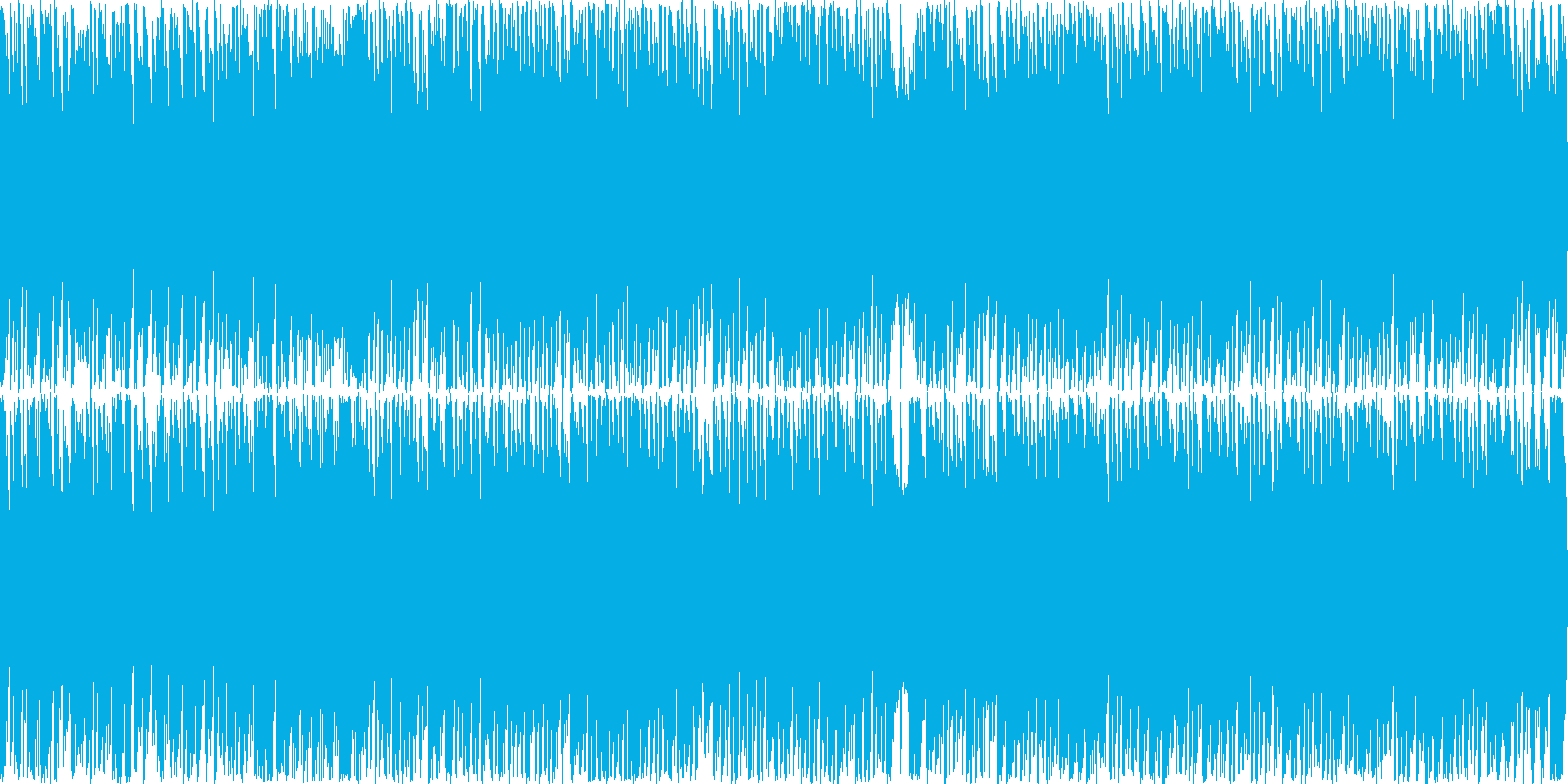 爽快で明るくハイテンションな曲 ループ可の再生済みの波形