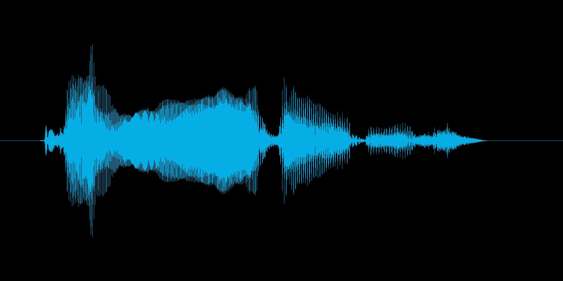 タイムオーバーですの再生済みの波形