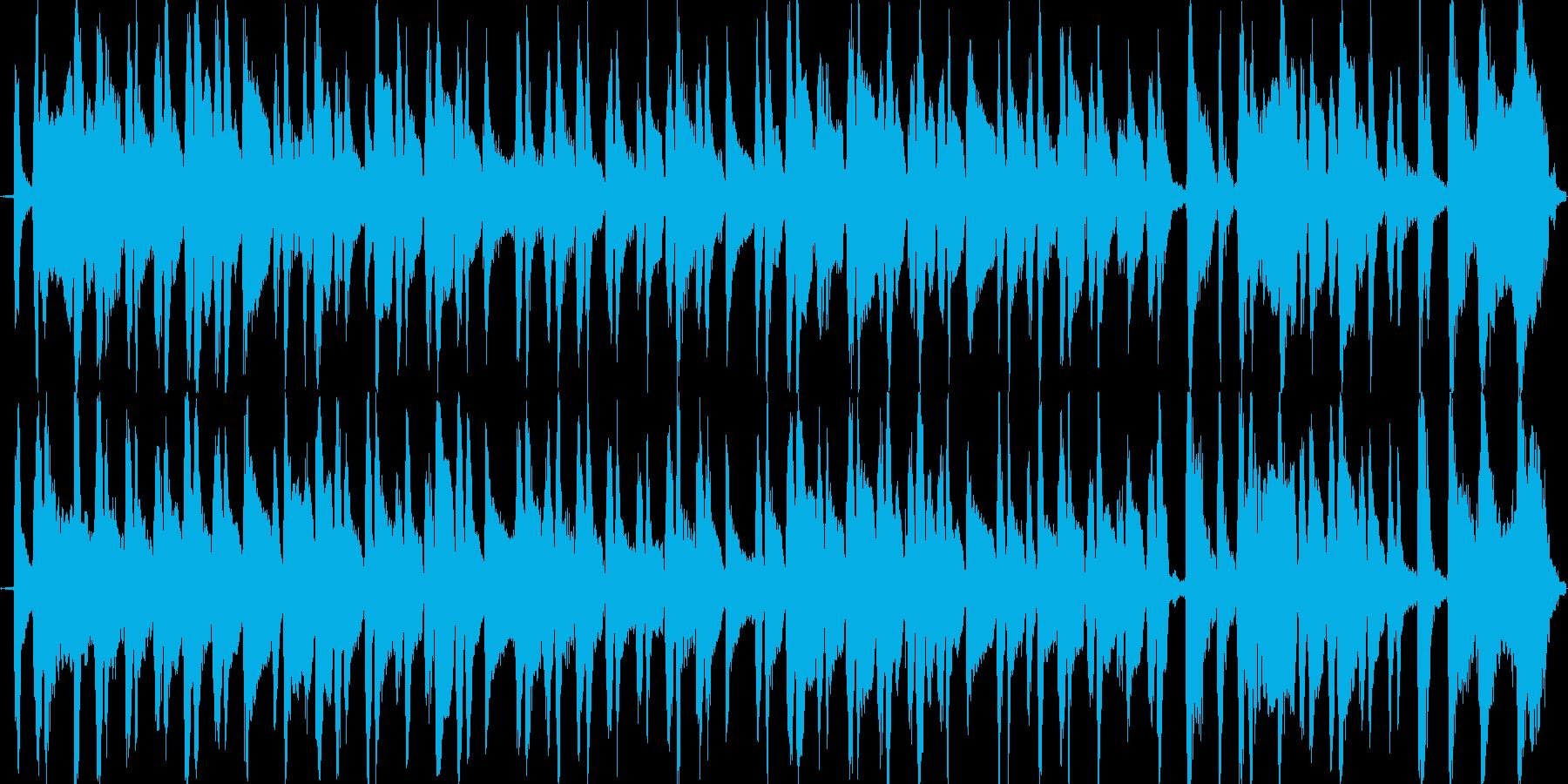 アコギのコミカルなブルースの再生済みの波形