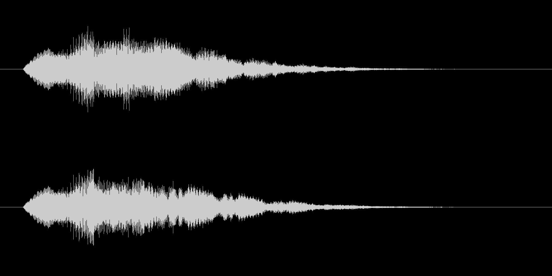 ティロりろの未再生の波形