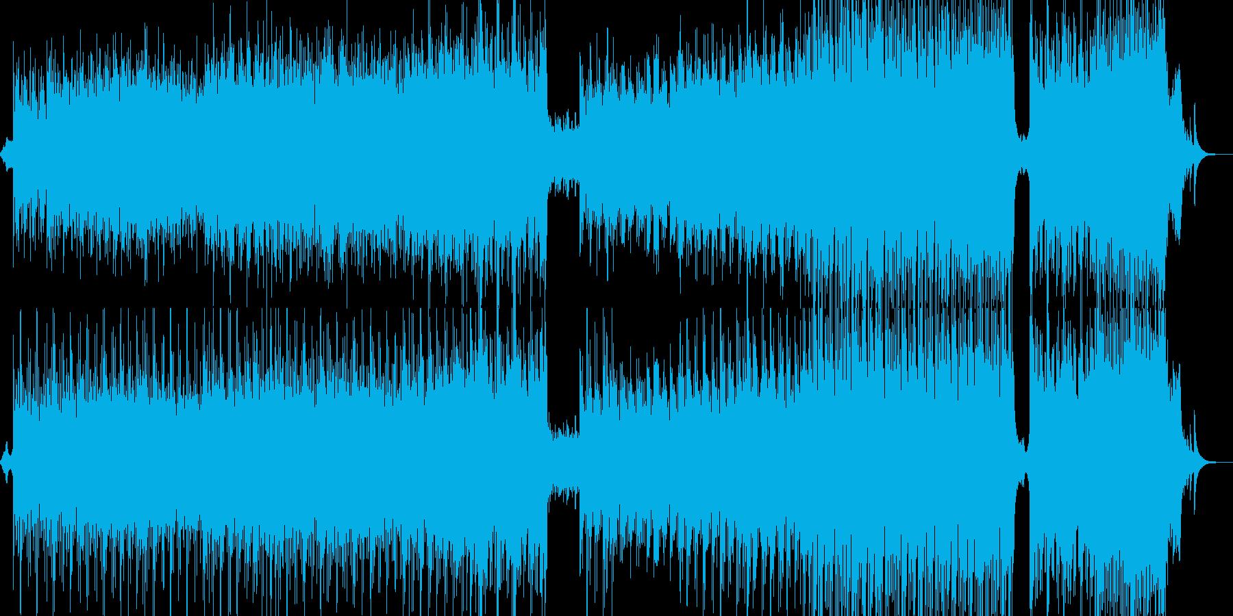 変化するギターアルペジオが特徴的なBGMの再生済みの波形