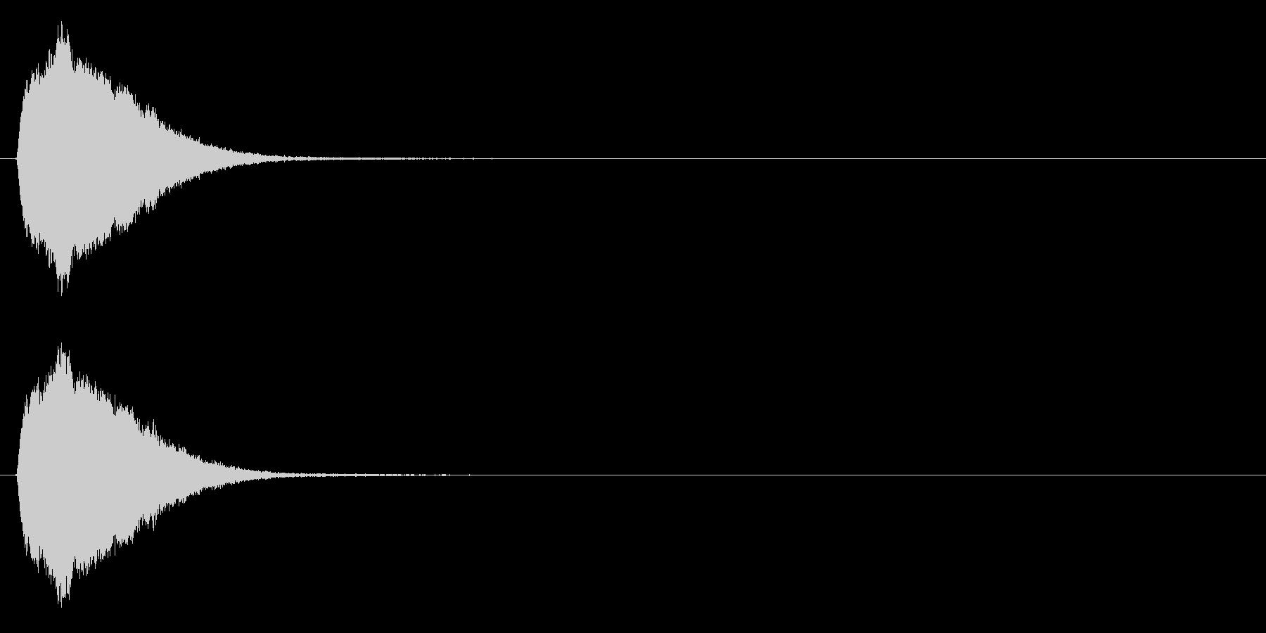場面転換の効果音(シンセ、ポップ)の未再生の波形