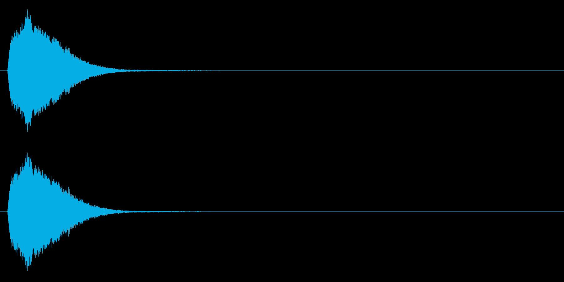 場面転換の効果音(シンセ、ポップ)の再生済みの波形