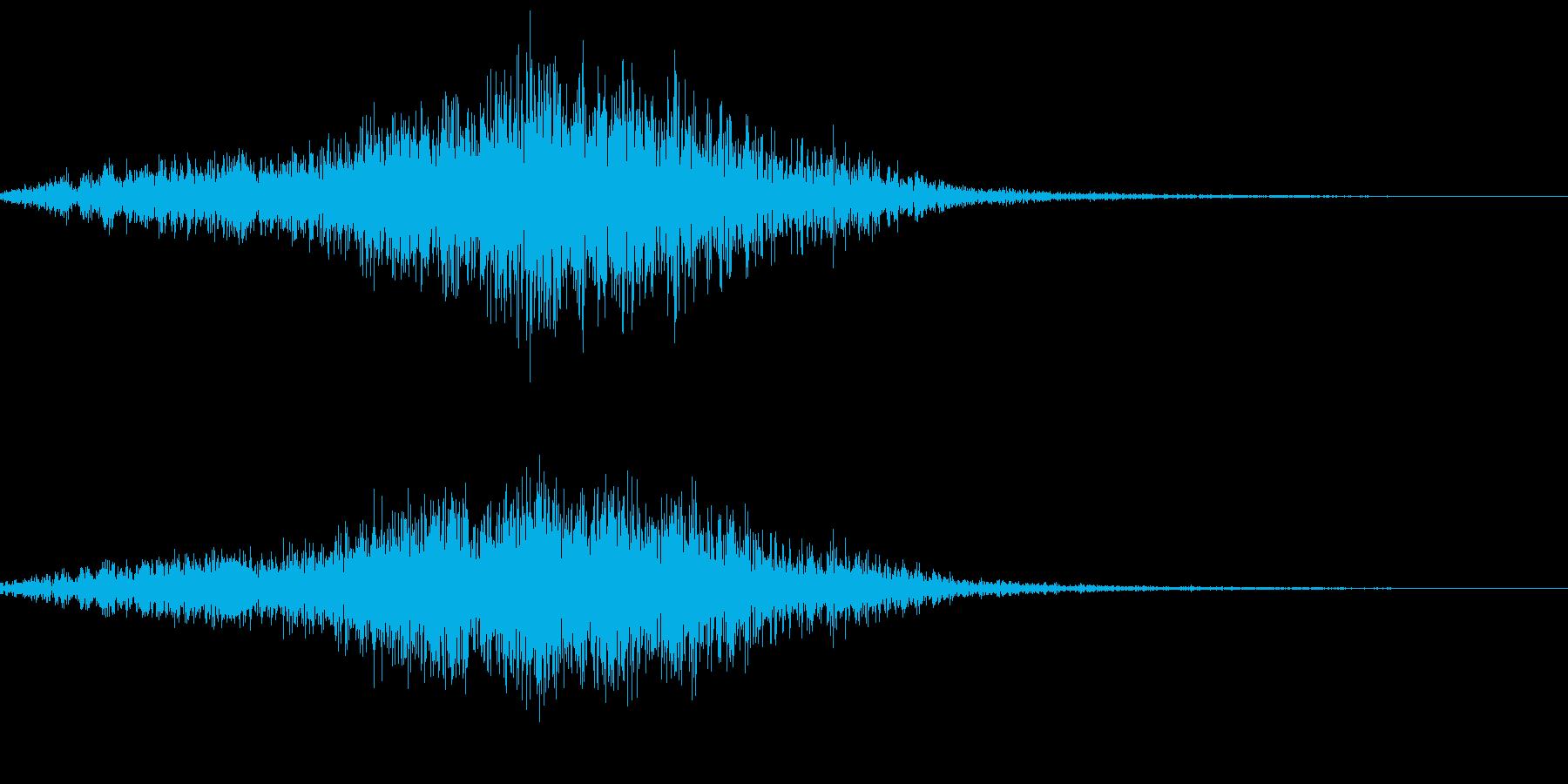 ニホンザルの鳴き声(キシャーッ)の再生済みの波形