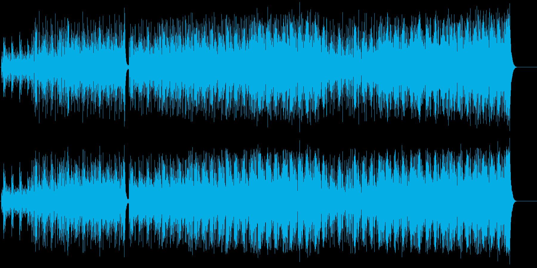 ラテン風リゾートB.G.M.向けの再生済みの波形