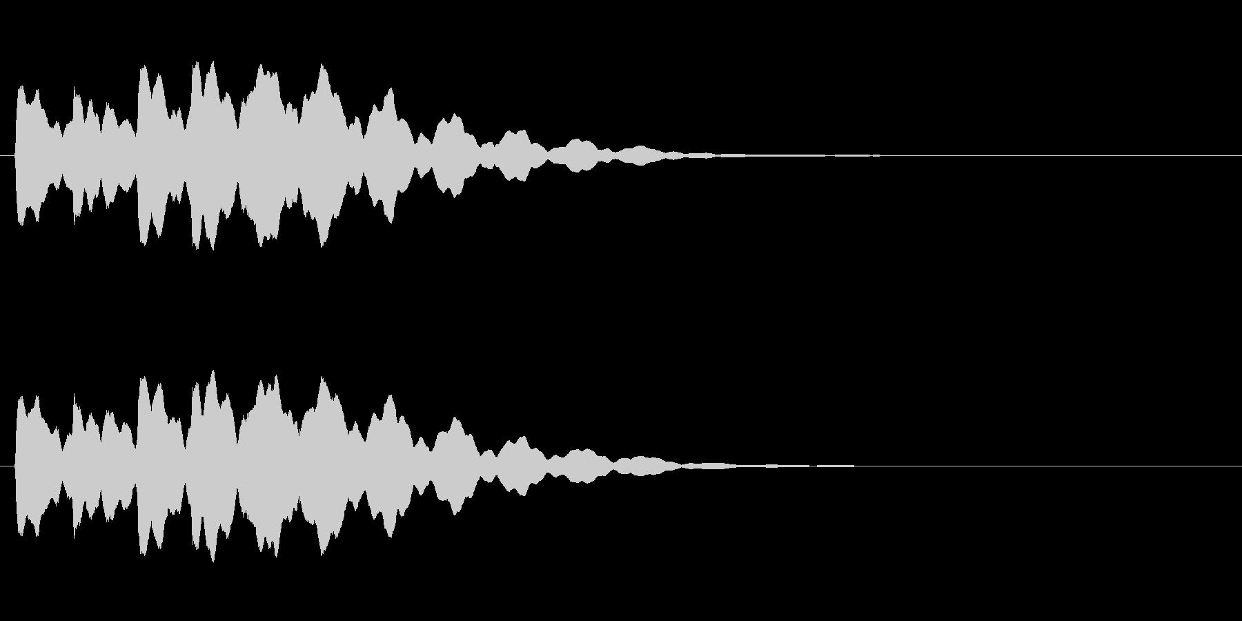 ベル6音、電話着信音【リリリリリリーン】の未再生の波形