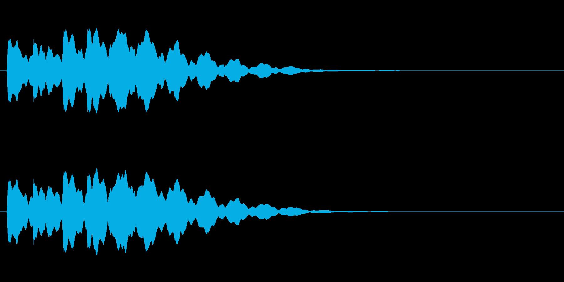 ベル6音、電話着信音【リリリリリリーン】の再生済みの波形
