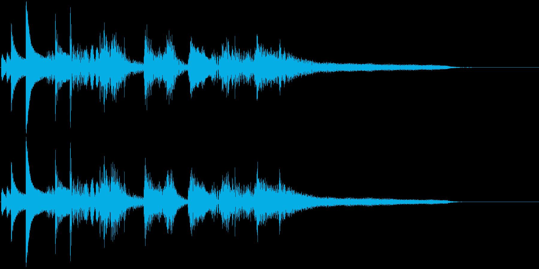 おしゃれなジャズ風ジングルの再生済みの波形