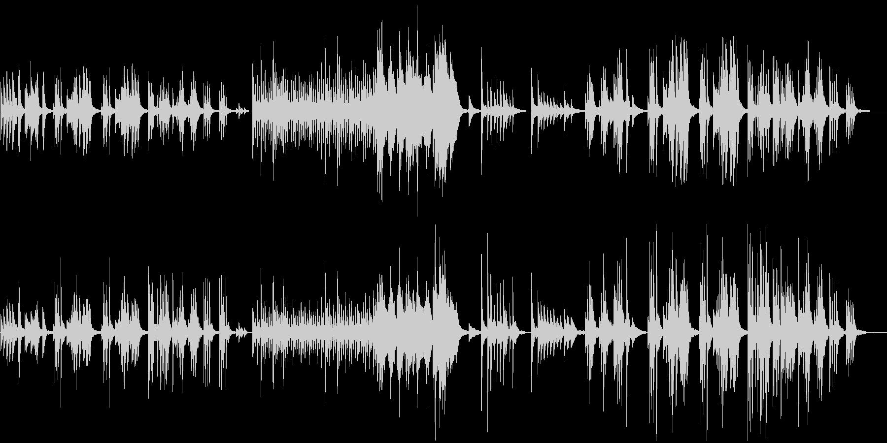 構成が変わるピアノのBGMの未再生の波形