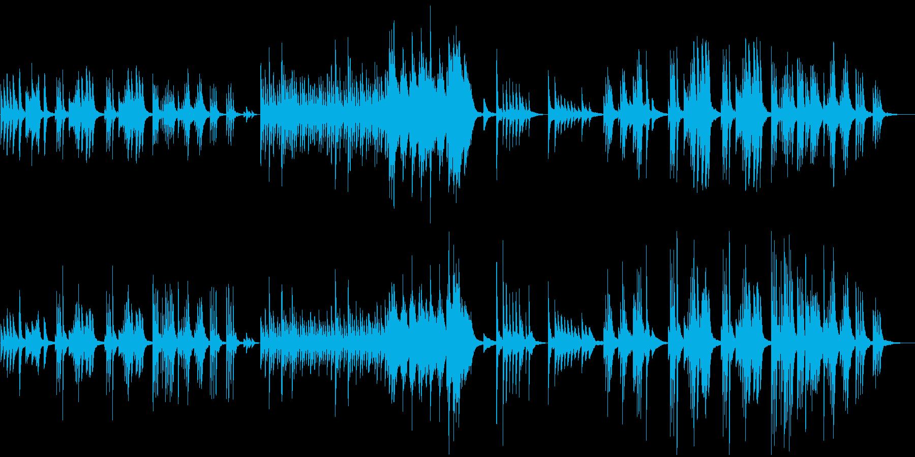 構成が変わるピアノのBGMの再生済みの波形