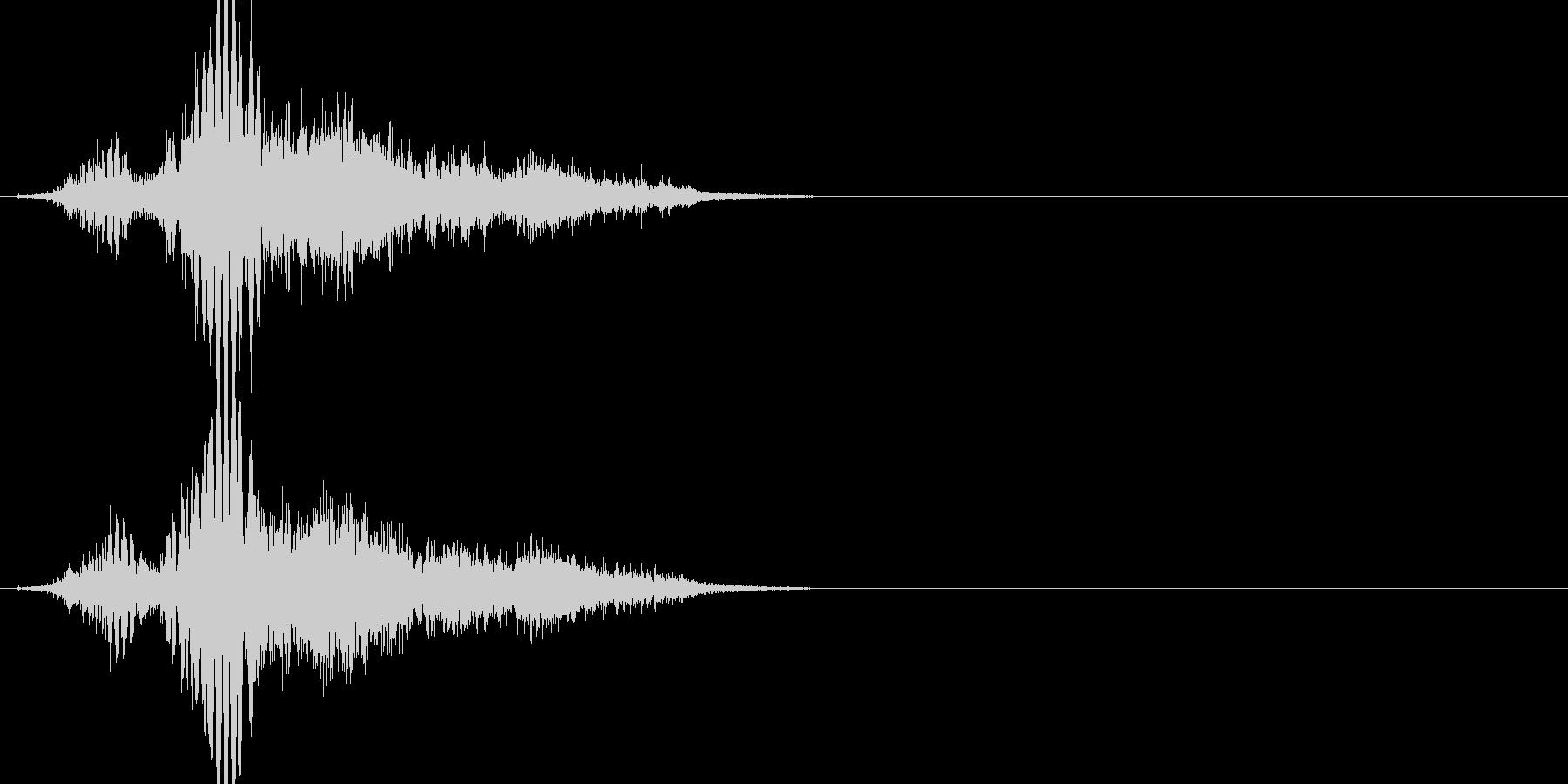 斬撃音(刀や剣で斬る/刺す効果音)15bの未再生の波形