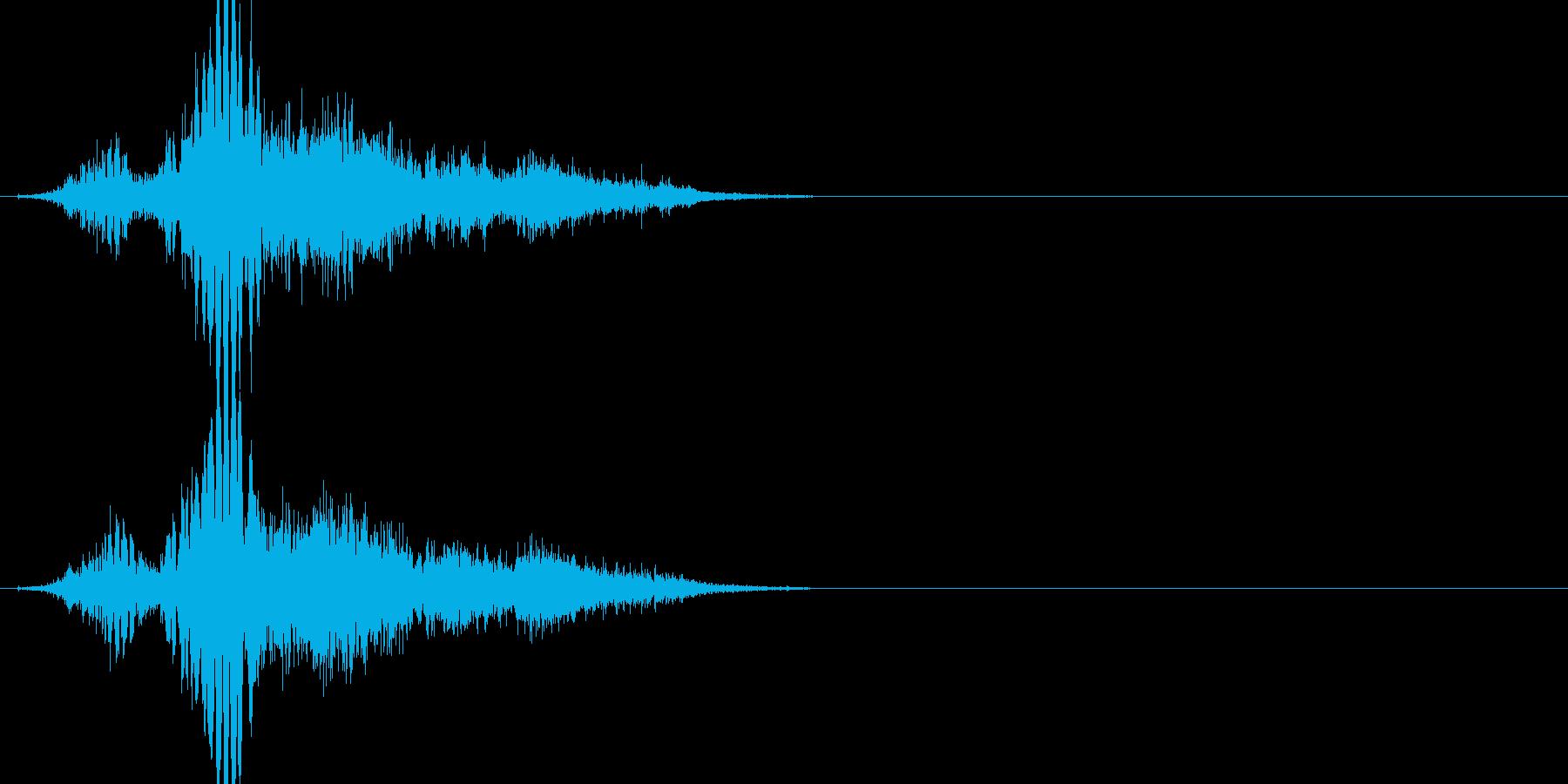 斬撃音(刀や剣で斬る/刺す効果音)15bの再生済みの波形