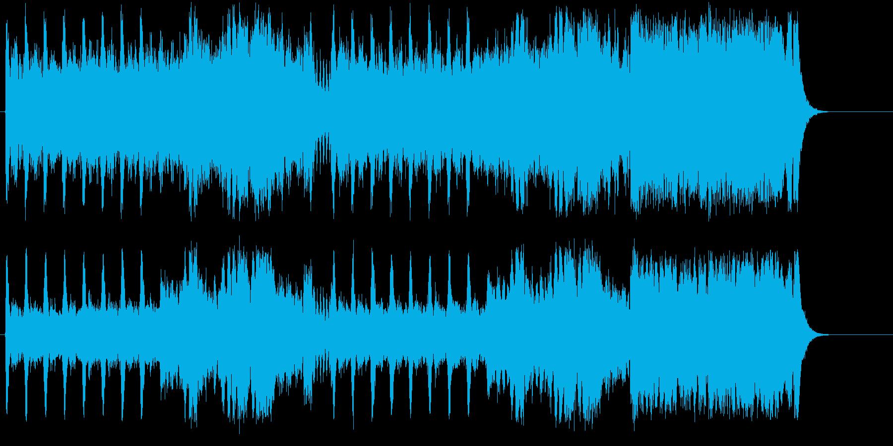 壮大に奏でられたオーケストラ・サウンドの再生済みの波形