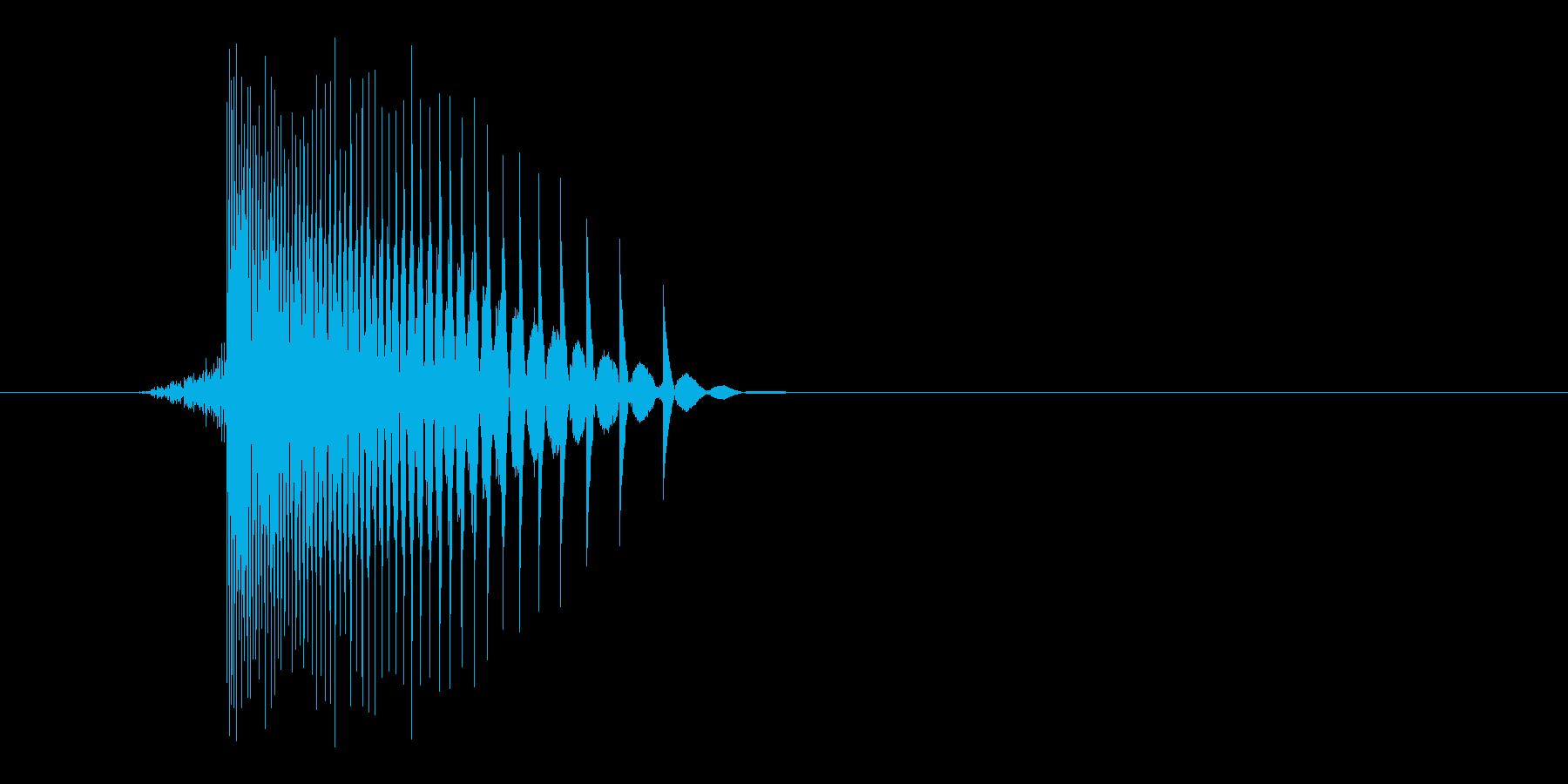 ゲーム(ファミコン風)レーザー音_039の再生済みの波形