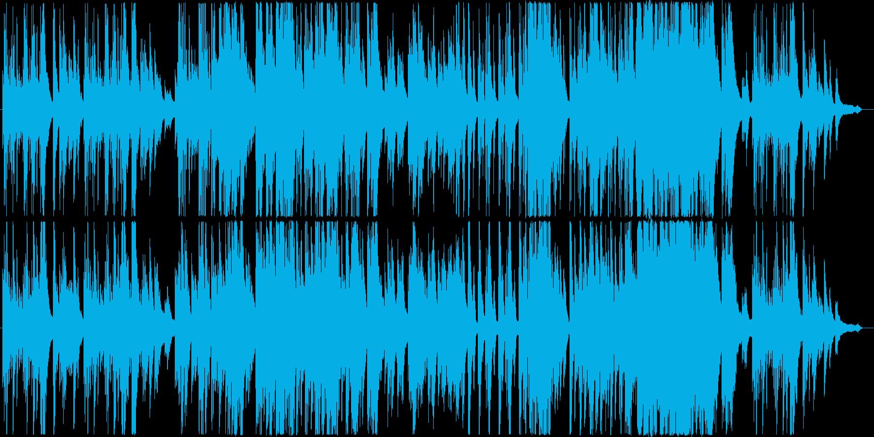 自然をテーマにした癒やし系のピアノ曲の再生済みの波形