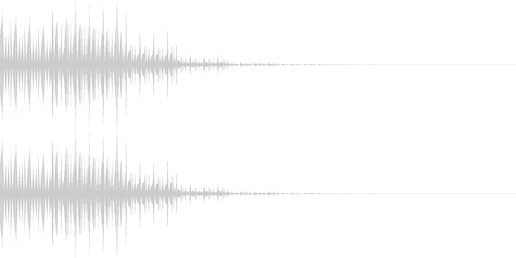 ブブー(間違い、レベルダウン、転移)の未再生の波形