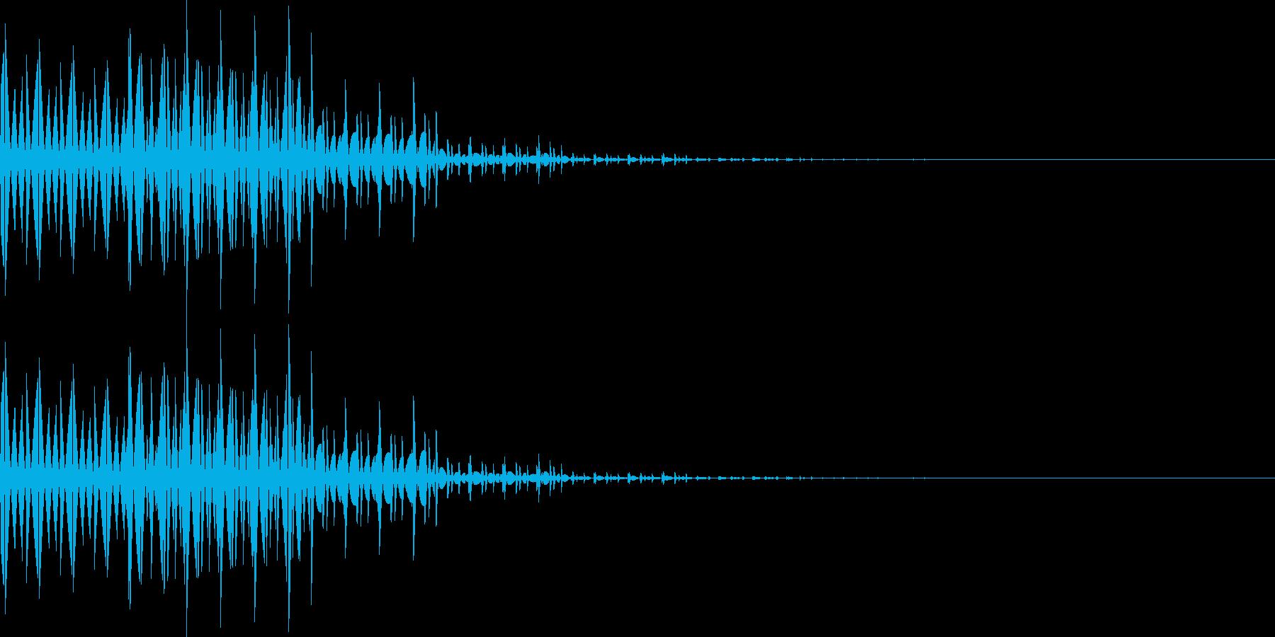 ブブー(間違い、レベルダウン、転移)の再生済みの波形