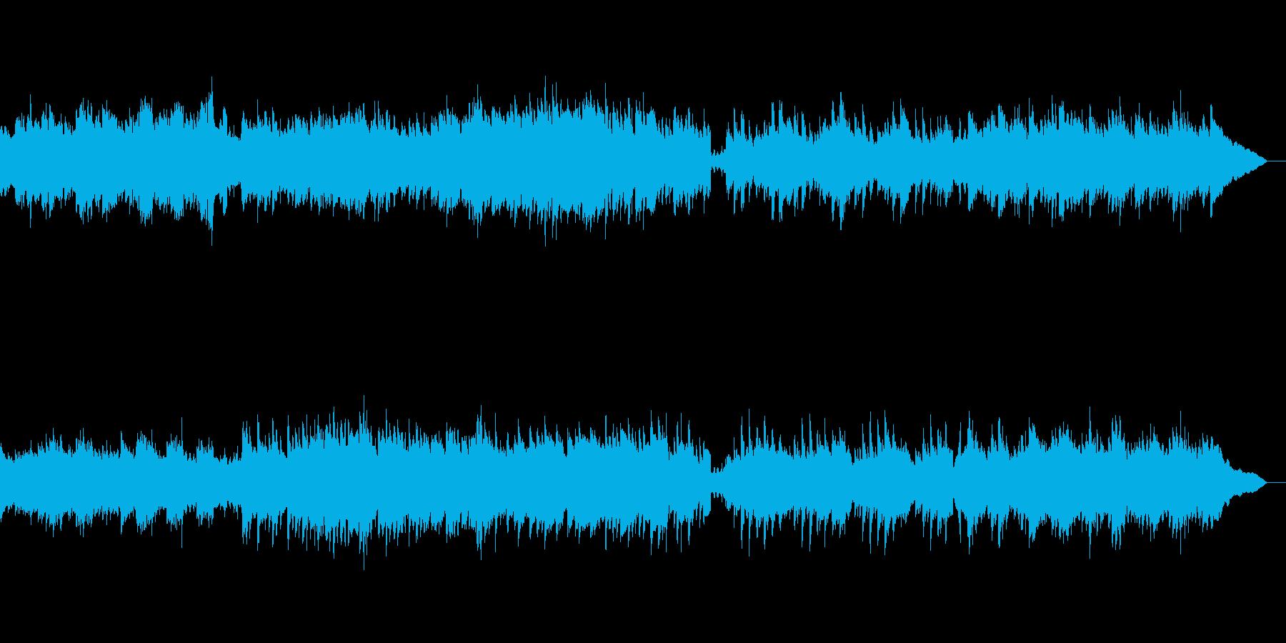 【1分版】優しい雰囲気のピアノ曲の再生済みの波形