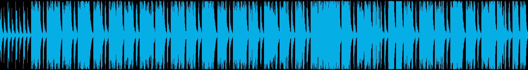 振り子のチクタク、という刻みに乗ったゆ…の再生済みの波形