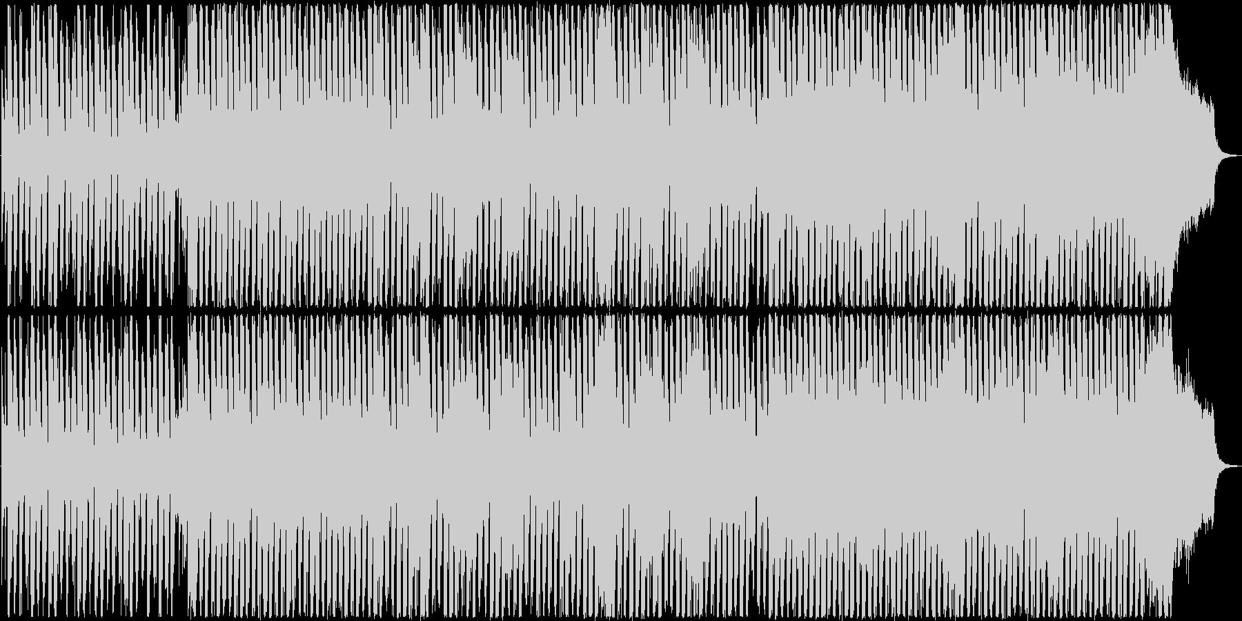 透明感あるピアノのメロディのEDMの未再生の波形