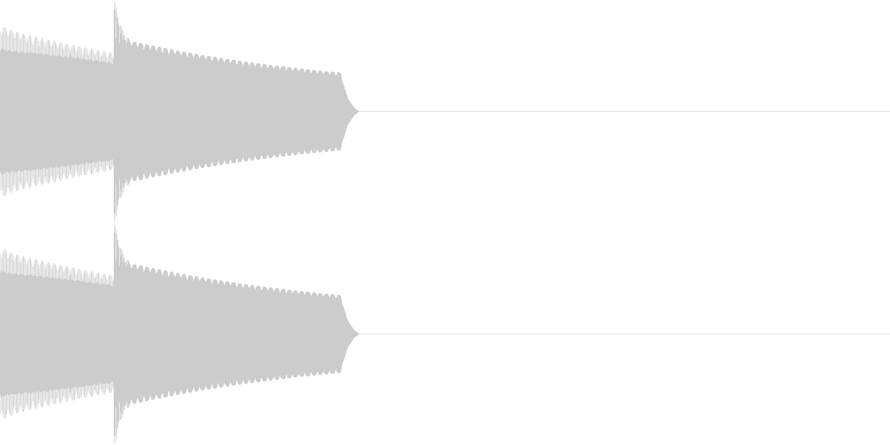 GB 懐かしのゲーム起動音 1の未再生の波形