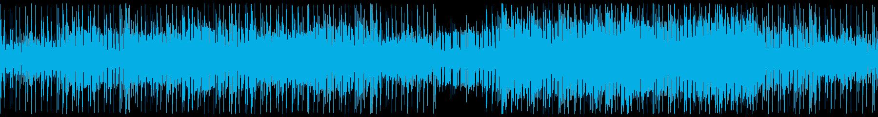 ダークなアップミドルサイバー系テクノの再生済みの波形
