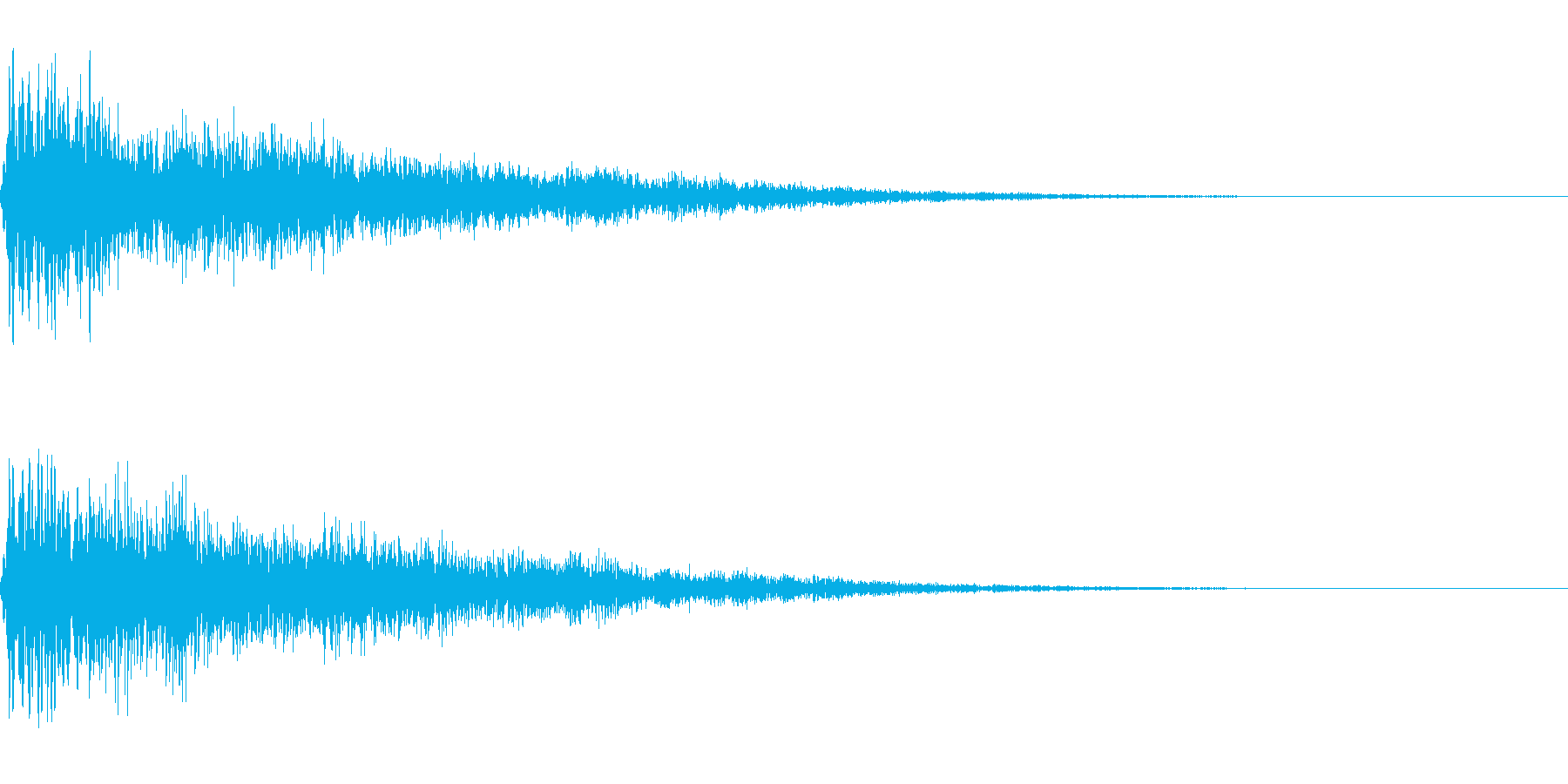 ゴージャスな決定音2の再生済みの波形