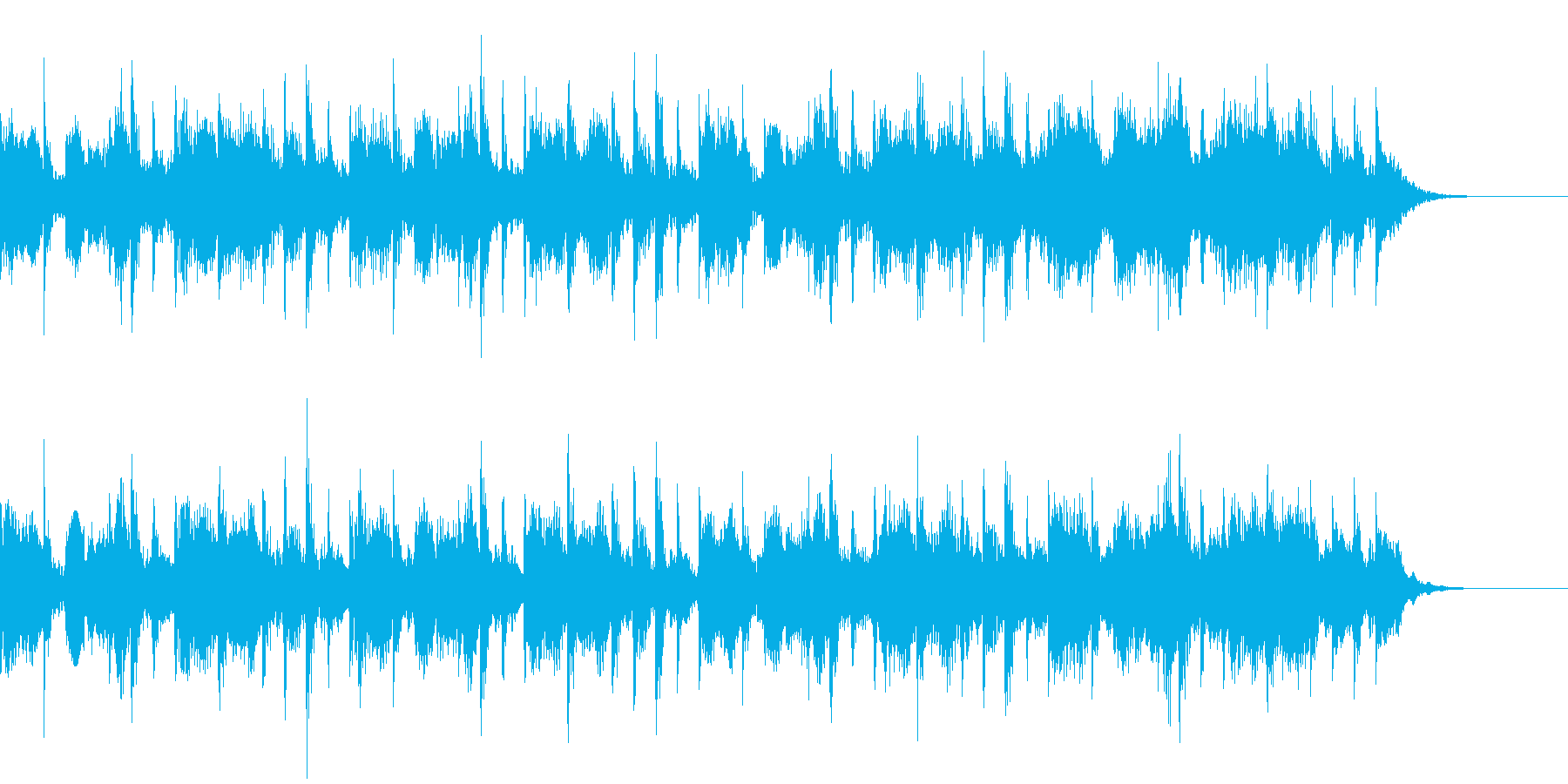 エレクトロ風のジングルの再生済みの波形