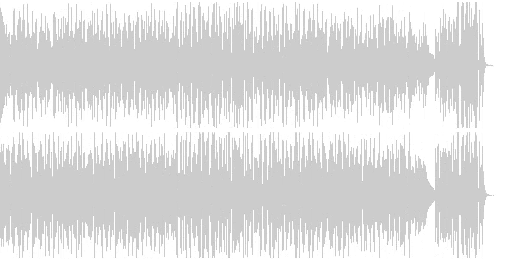 ショパンの幻想即興曲 ラグタイムアレンジの未再生の波形