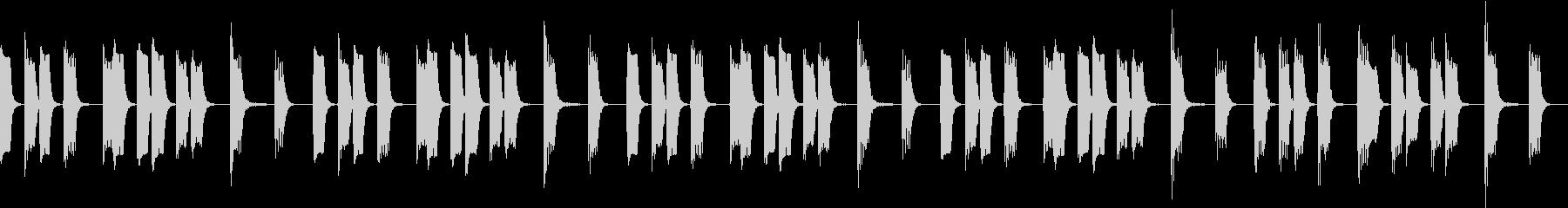 のんきな動物がうたた寝している曲の未再生の波形