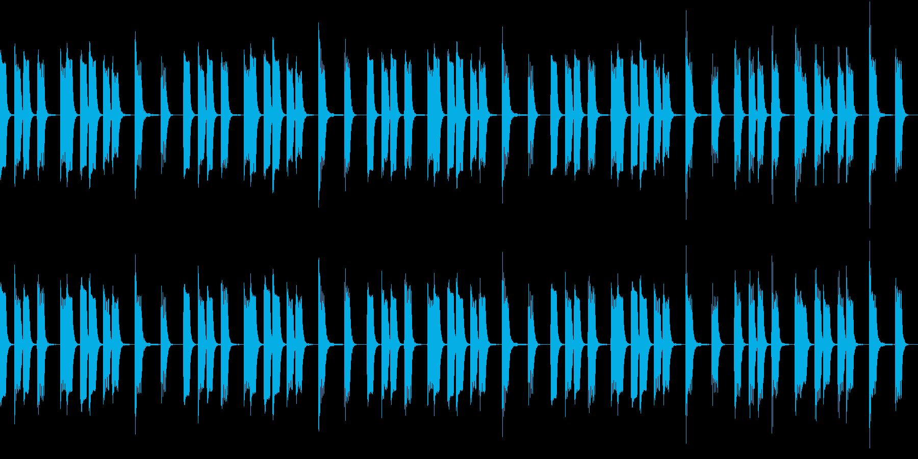 のんきな動物がうたた寝している曲の再生済みの波形
