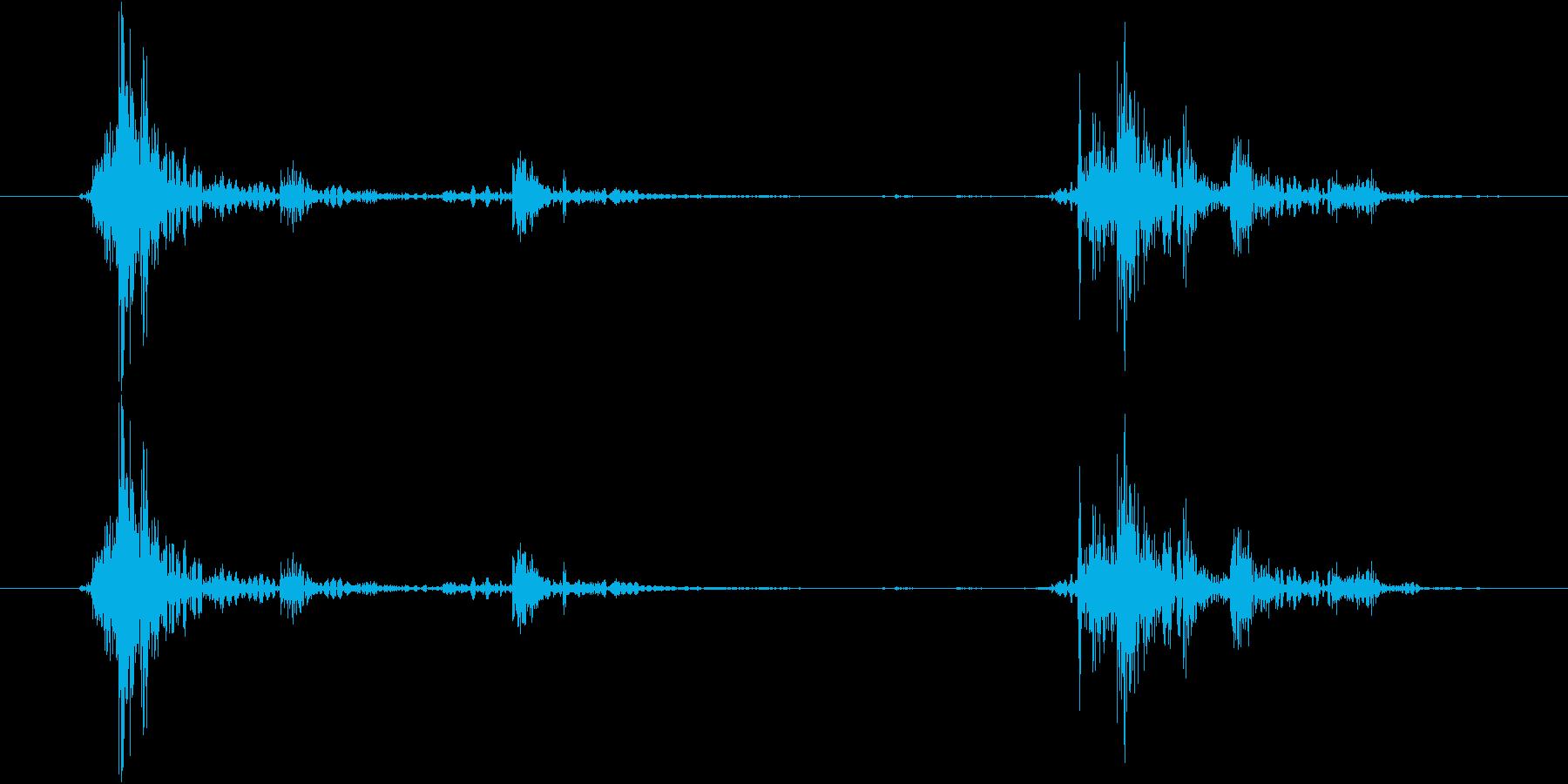 ガチャッ(ドアノブを回してドアを開ける)の再生済みの波形