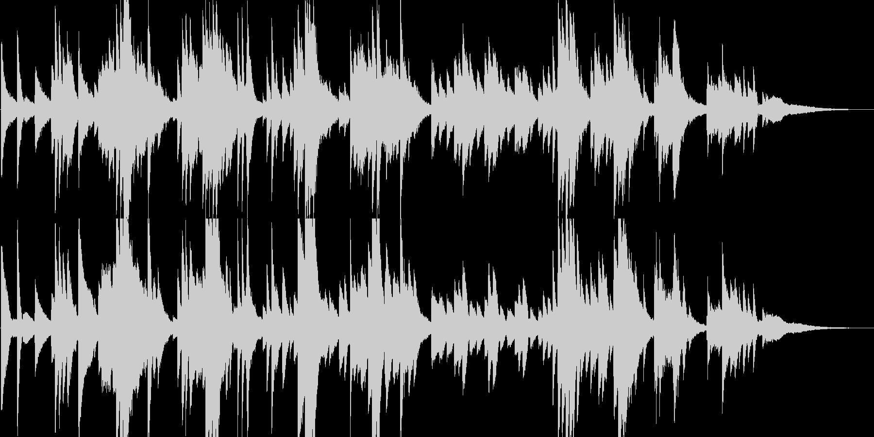 自律神経を整えるヒーリングピアノソロ曲の未再生の波形