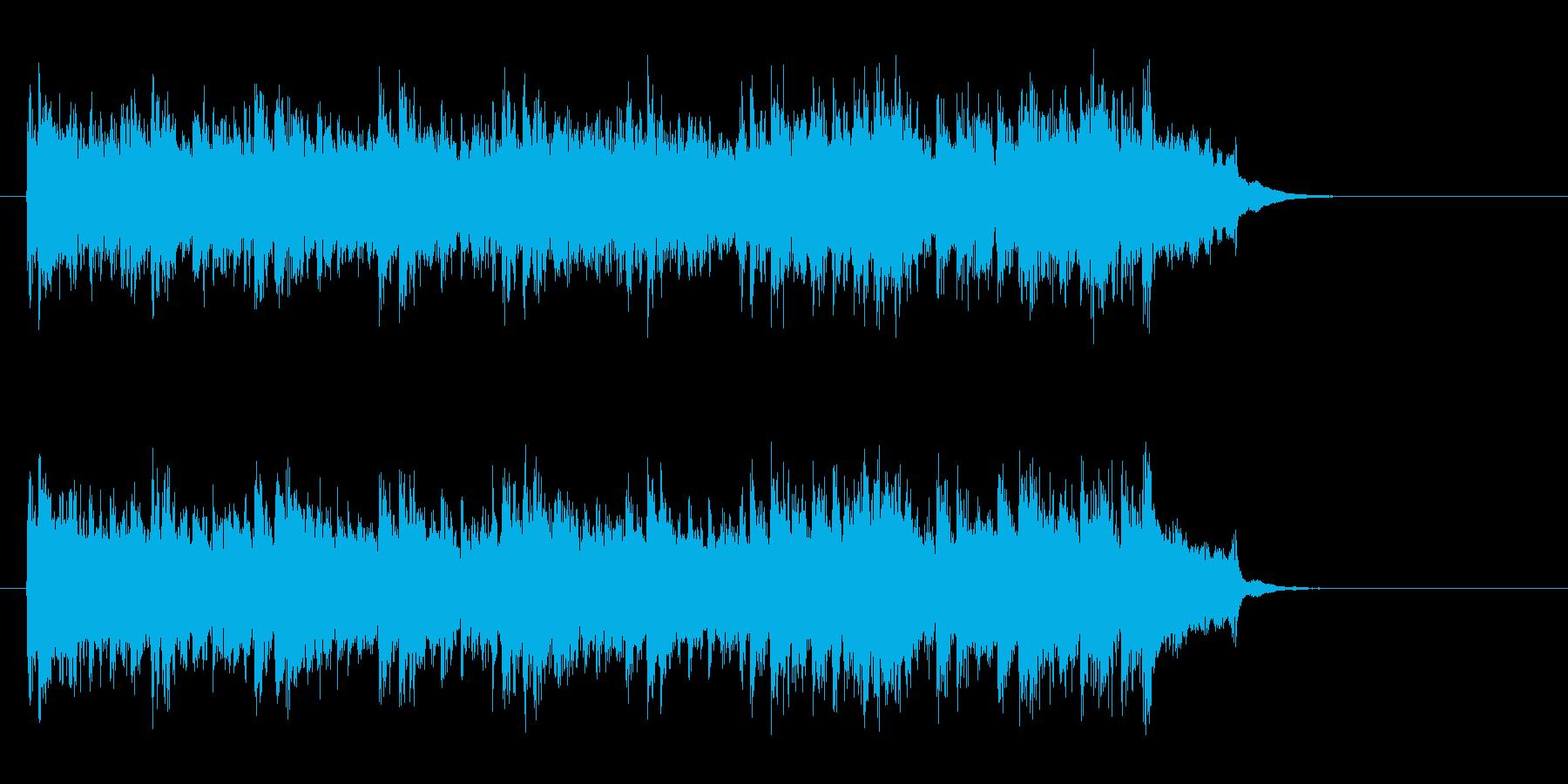 アコースティック風BGM(イントロ)の再生済みの波形