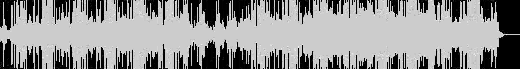 三味線とロックを融合した和テイストな楽曲の未再生の波形