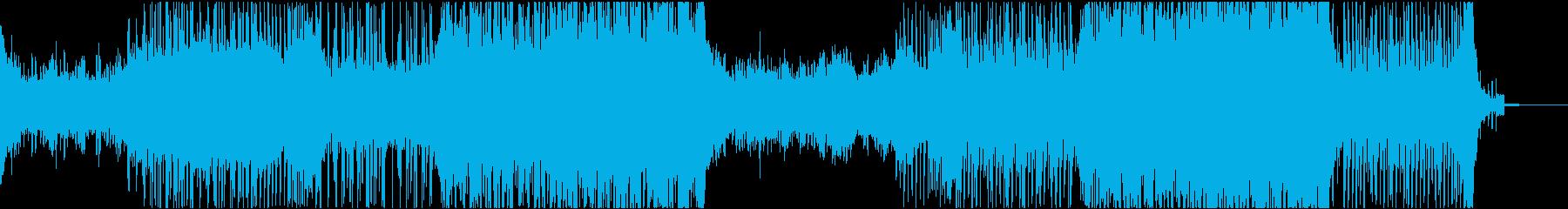 目まぐるしい展開のゲーム系シネマティックの再生済みの波形