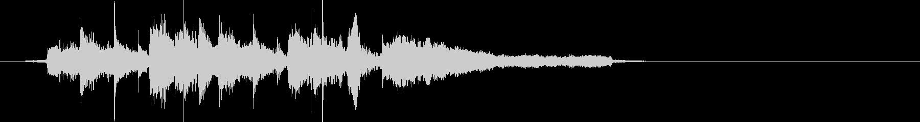 ビーチ風ジングル(波SE入り)の未再生の波形