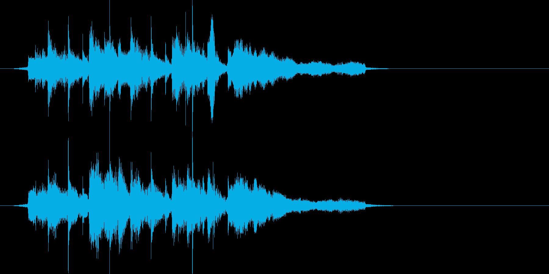 ビーチ風ジングル(波SE入り)の再生済みの波形