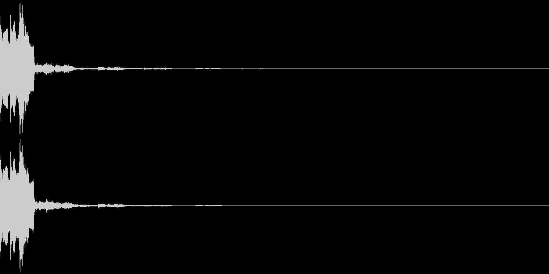 決定 選択 ピピピ アナログ 02の未再生の波形