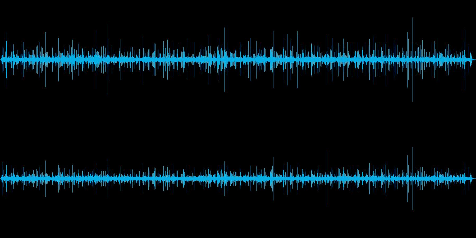 山で録音した清水の音_川の再生済みの波形
