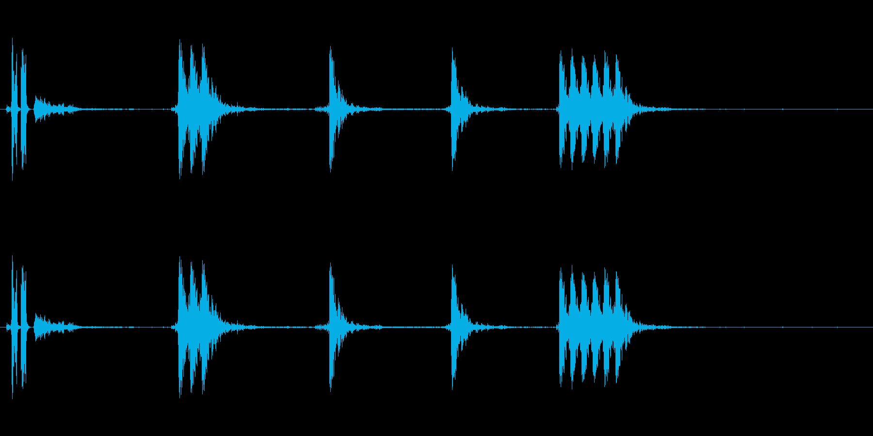 銃の音 (3)の再生済みの波形