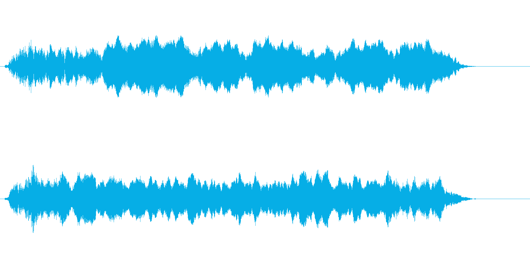 汽笛の音圧ラジオ・TV規格の再生済みの波形